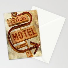 Vintage Grunge Motel Sign Stationery Cards