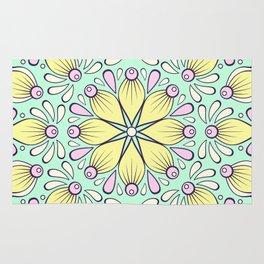 Floral print pattern Rug