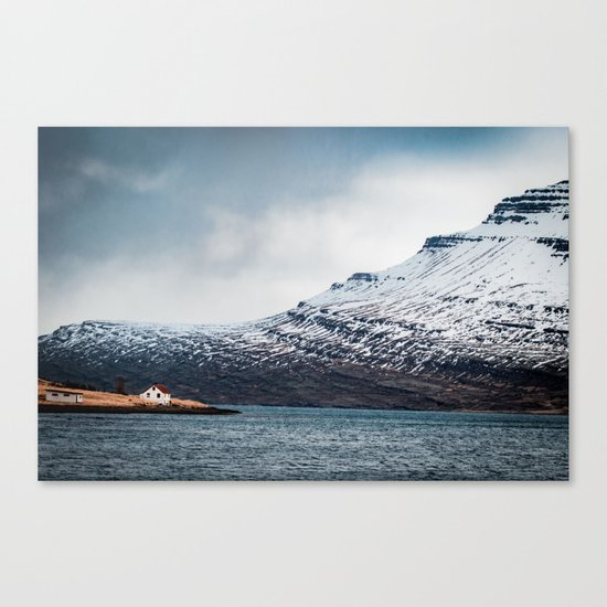 Alone House Mountain Canvas Print