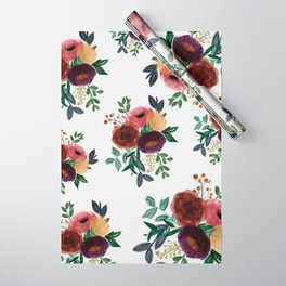 Floral Watercolor Bouquet Pattern Wrapping Paper