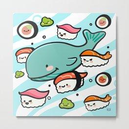 Sushi Bunch Metal Print