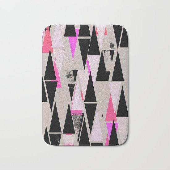 Pink Triangles II Bath Mat
