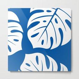monster leaves royal blue Metal Print