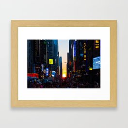 Manhattanhenge - New York Framed Art Print