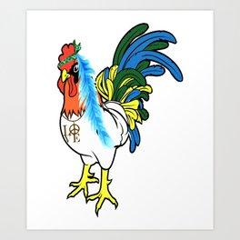 chickens beautifull sexy animals love heart win game playfull chicken Art Print