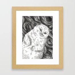 Meowby Dick Framed Art Print