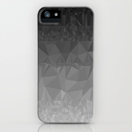 Black and Grey Ombre iPhone Case