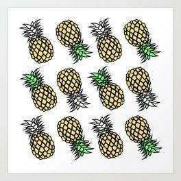 pineapple clear Art Print