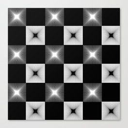 Black And White Illusion Pattern Canvas Print