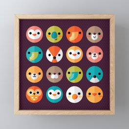 SMILEY FACES Framed Mini Art Print