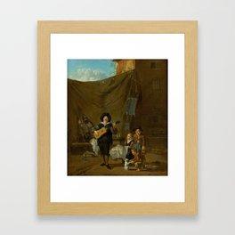 Dujardin, Karel, musician Framed Art Print