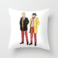 beard Throw Pillows featuring BEARD by MNGNChannel ♥︎