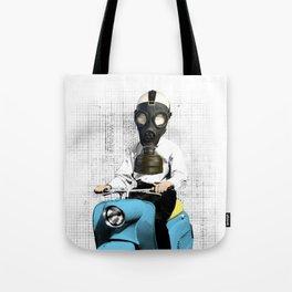 Vespa Man Tote Bag
