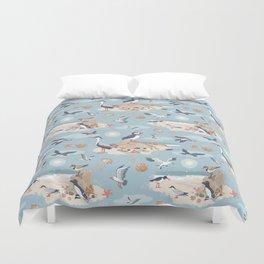 Coastal Birds Pattern Duvet Cover