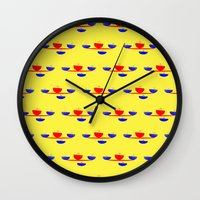 breakfast Wall Clocks featuring Breakfast by lillianhibiscus