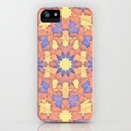 Arabesque 3D - Color: Sunset Hues iPhone Case