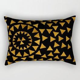 Dark Sun - Gold and Black Rectangular Pillow