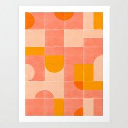 Retro Tiles 03 #society6 #pattern Art Print