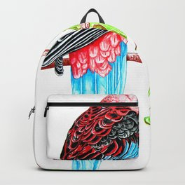 Blue Tail Parrot- Greenday Backpack