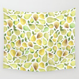Watercolour Pears Wall Tapestry