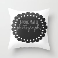 logo Throw Pillows featuring Logo by brookmariephotography