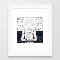 einstein Framed Art Prints featuring einstein by Taranta Babu