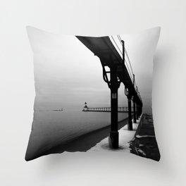 Michigan City Indiana Throw Pillow