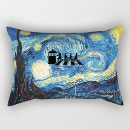 The Doctors Walking Of Starry Night Rectangular Pillow