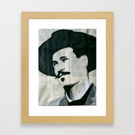 Val Kilmer as Doc Holliday Framed Art Print