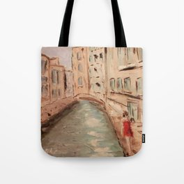 Venice Girl in Red Tote Bag