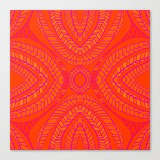 Orange Leaves Pattern Canvas Print
