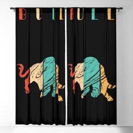 Bull Color Blackout Curtain