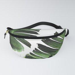 Banana Leaf - Tropical Leaf Print - Botanical Art - Modern Abstract - Green, Olive Fanny Pack