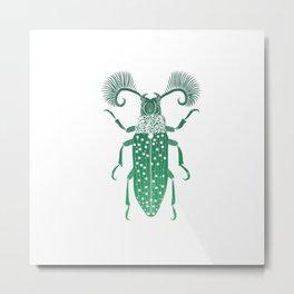 Absinthe Beetle Metal Print