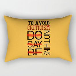 Lab No. 4 Do Say Be Nothing Elbert Hubbard Famous Motivational Quotes Rectangular Pillow