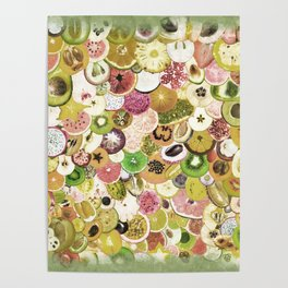 Fruit Madness (All The Fruits) Vintage Poster