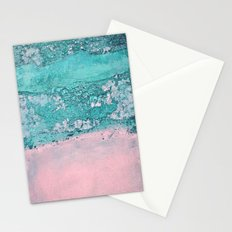 blue wall Stationery Cards