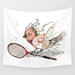 The Wild Badminton Birdie Wall Tapestry