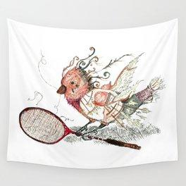 The Wild Badminton Birdie Wall Tapestry