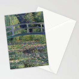 Water Lilies and the Japanese Bridge by Claude Monet Stationery Cards