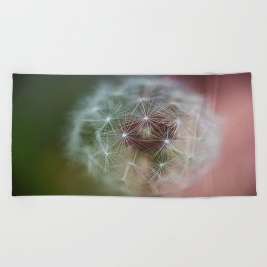Dandelion Italian Flag Beach Towel