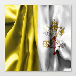 Vatican City Flag Canvas Print