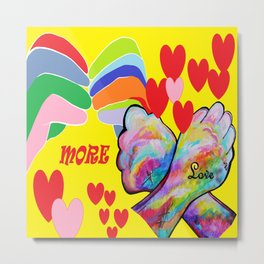 ASL More Love! Metal Print