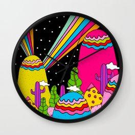 Night Sky Rainbows Wall Clock