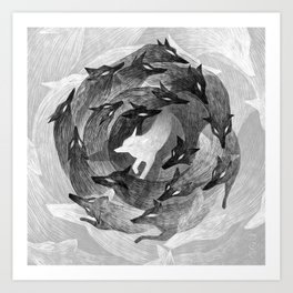Running With The Wolves Art Print