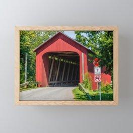 James Covered Bridge - Commiskey - Indiana Framed Mini Art Print