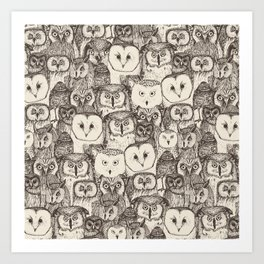 just owls natural Art Print