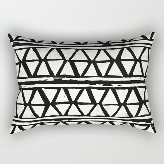 Tribal Geometric Band Rectangular Pillow