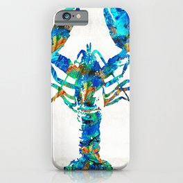 Blue Lobster Art by Sharon Cummings iPhone Case