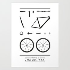 Simplicity of the bicycle Art Print